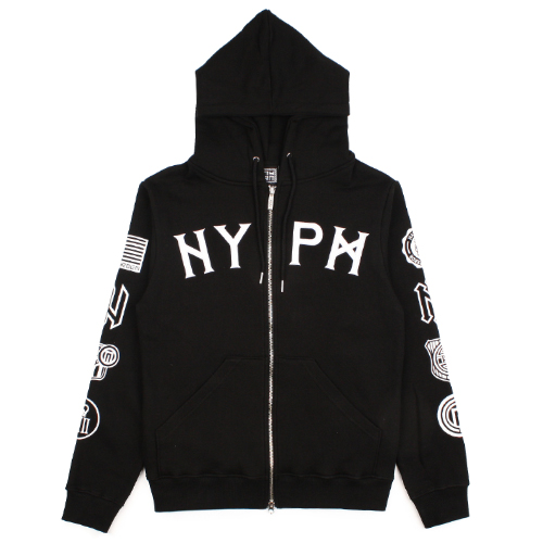 [NASTY PALM] UNION HOOD ZIP UP (BLACK)