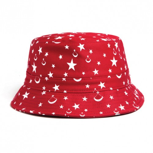 [BLACK SCALE] BUCKET HAT (RED)
