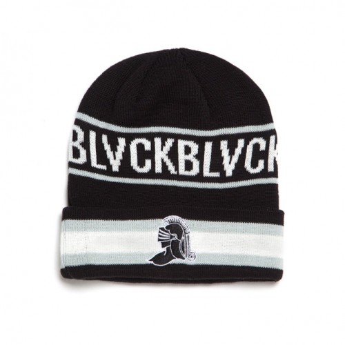 [BLACK SCALE] BLACK KNIGHT BEANIE (BLACK/WHITE)