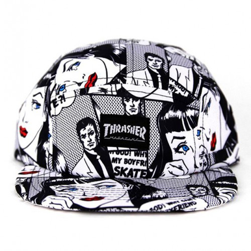 [THRASHER] BOYFRIEND 5 PANEL CAP (WHITE)