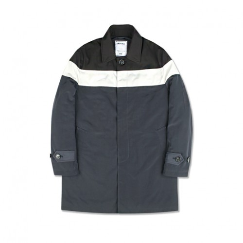 [MARCH WITH] PADDED BLOCK SINGLE COAT (NAVY)