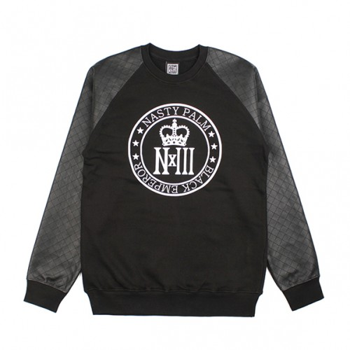 [NASTY PALM] NXM ROYAL RAGLAN SWEATSHIRTS (BLACK)