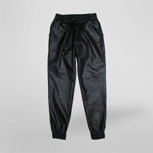 [SAFARY] COATED SWEAT PANTS (BLACK)