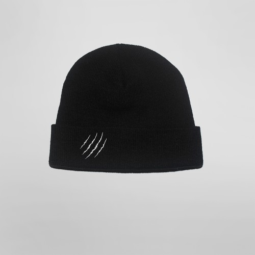 [SAFARY] SYMBOL SHORT BEANIE (BLACK)