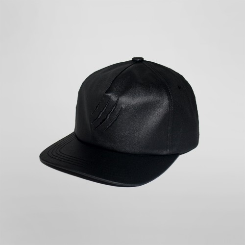 [SAFARY] COATED SNAPBACK CAP (BLACK)