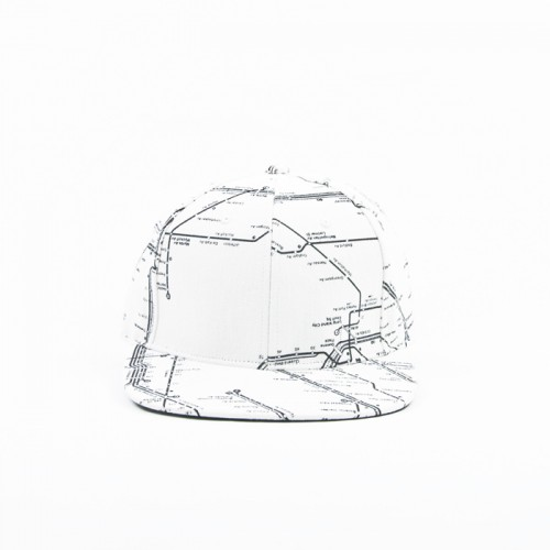 "[KANEZ] ""WORLD METRO"" SNAPBACK (WHITE)"