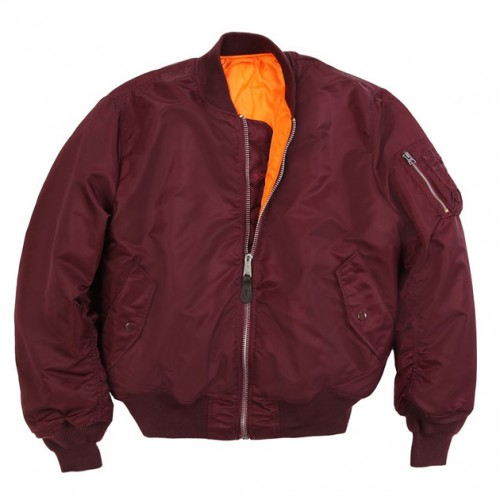 [ALPHA INDUSTRIES] MA-1 FLIGHT JACKET (MAROON)