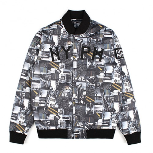 [NASTY PALM] N-ROAD VARSITY JACKET (BLACK)