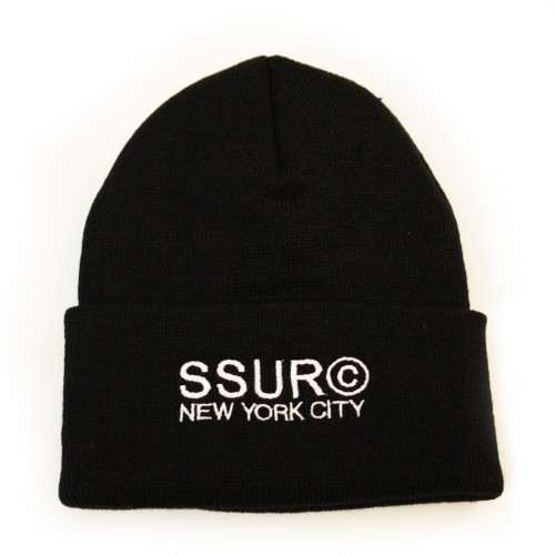 [SSUR] THE COPYRIGHT NYC BEANIE (BLACK)