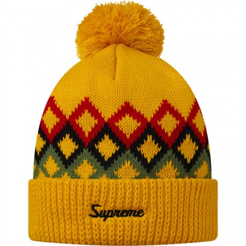 [SUPREME] DIAMONDS BEANIE (YELLOW)