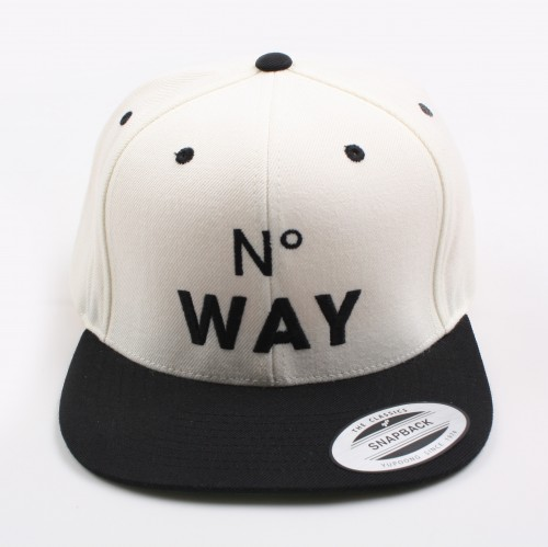 [MARRIED TO THE MOB] The No Way Snapback (White)