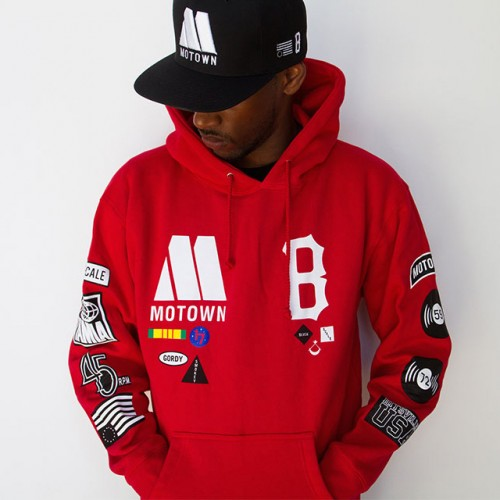 [BLACK SCALE] ALL AMERICAN PULL HOODIE (RED)