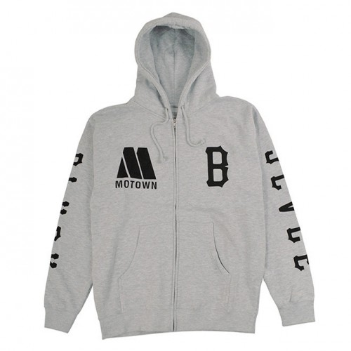 [BLACK SCALE] MOTOWN REBEL BLVCK ZIP (HEATHER)