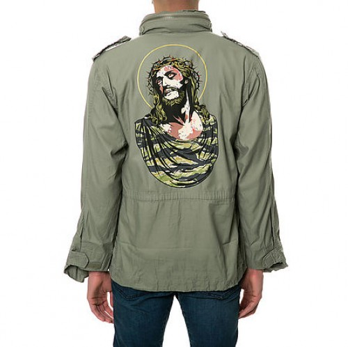 [SSUR] THE WOTW CAMO JESUS JACKET IN SAGE