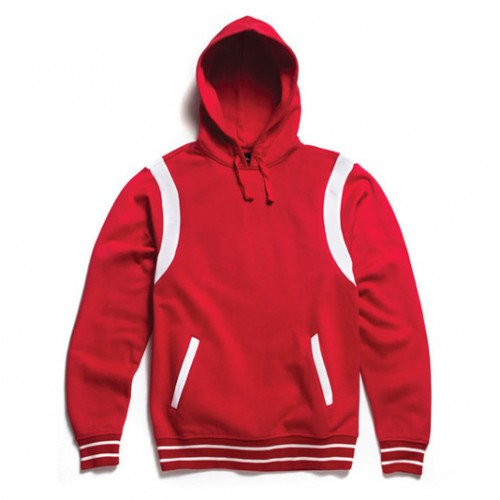[BLACK SCALE] VARSITY PULLOVER, RED