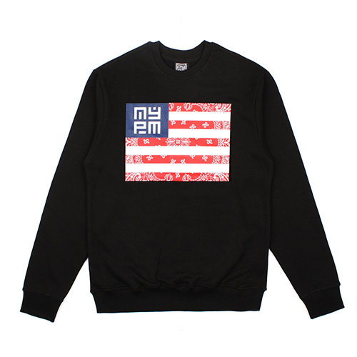 [NASTY PALM ] NASTY NATION SWEATSHIRTS (BLK)