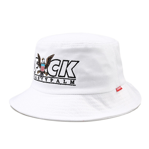 [NASTY PALM ]  F#CK BUCKETHAT (WHT)