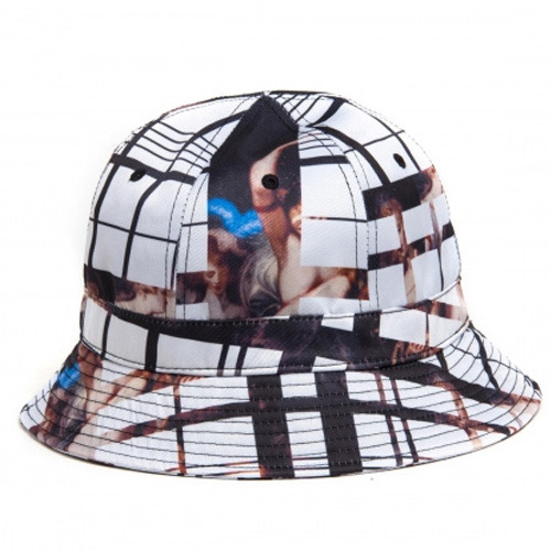 [BLACK SCALE] GHOST PLAID BUCKET, WHITE