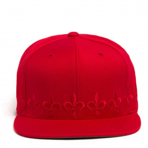 [BLACK SCALE] FLEUR SNAPBACK, RED/RED