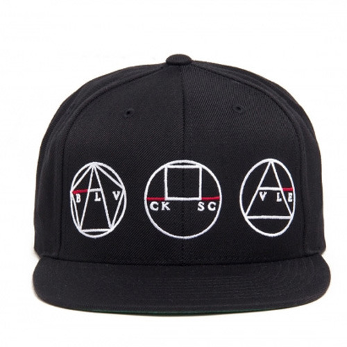 [BLACK SCALE] GOLDEN SHAPES SNAPBACK, BLACK