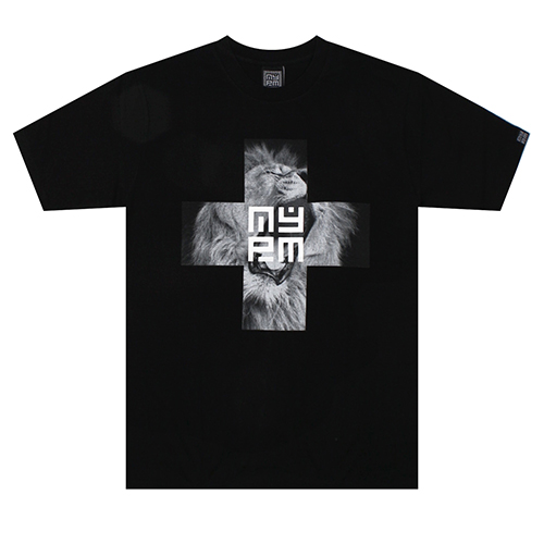 [NASTY PALM] AURA CROSS TEE (BLK)
