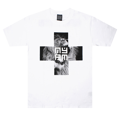 [NASTY PALM] AURA CROSS TEE (WHT)