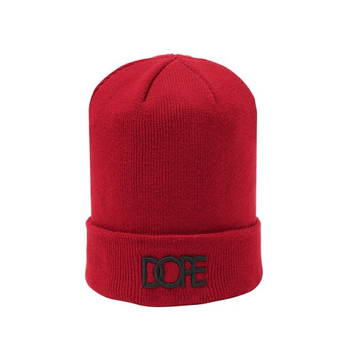 [DOPE] SMALL LOGO BEANIE (RED)
