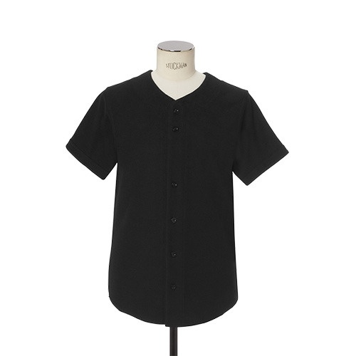 [DOPE] REVERSE LIGHTWEIGHT TERRY BASEBALL JERSEY (BLACK)