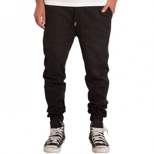 [ELWOOD] THE STRETCH TWILL JOGGER PANTS IN BLACK