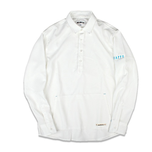 [MARCH WITH] BIG POCKET PULLOVER SHIRTS WHITE