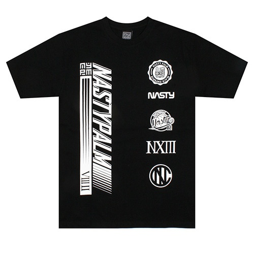 [NASTY PALM] WORLD WIDE TEE (BLK)