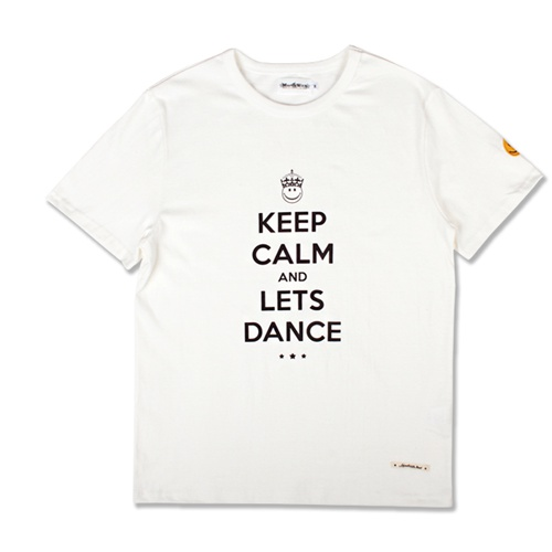 [MARCH WITH] KEEP CALM HEAVYWEIGHT TEE OFF WHITE