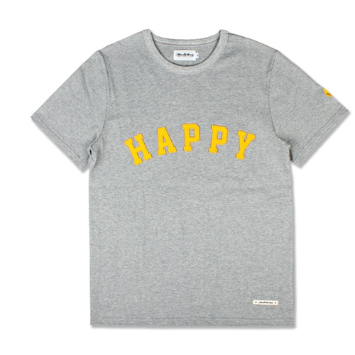 [MARCH WITH] HAPPY HEAVYWEIGHT TEE GRAY