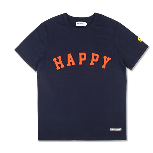 [MARCH WITH] HAPPY HEAVYWEIGHT TEE NAVY