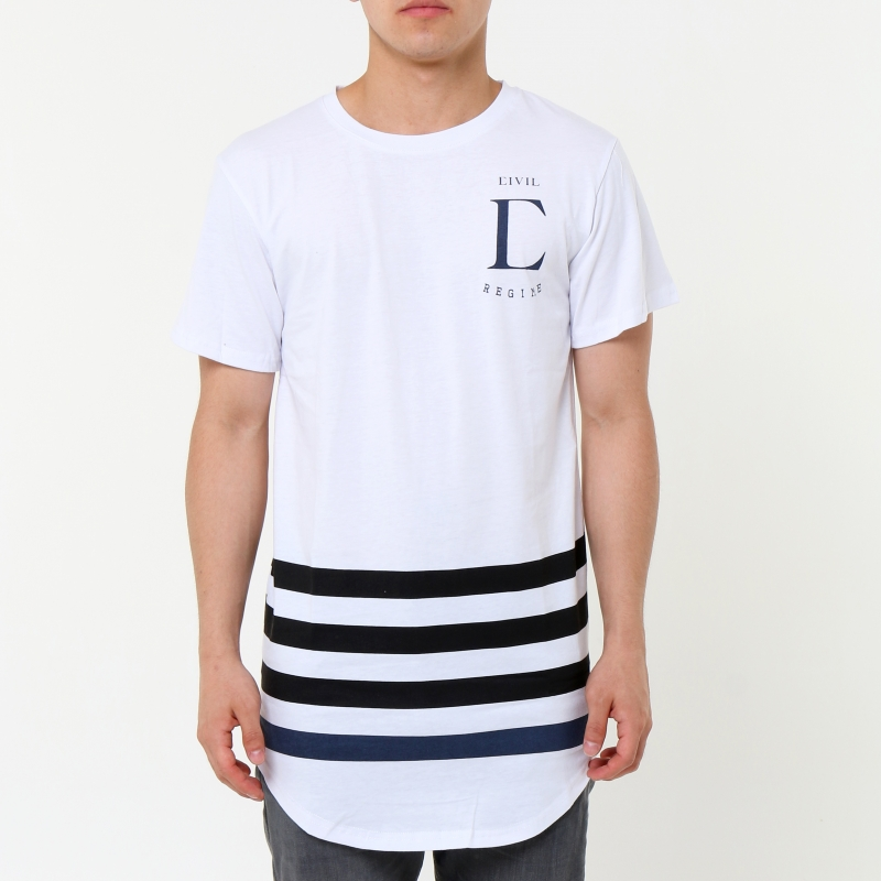 [CIVIL] LEAGUE DROP TEE (White)