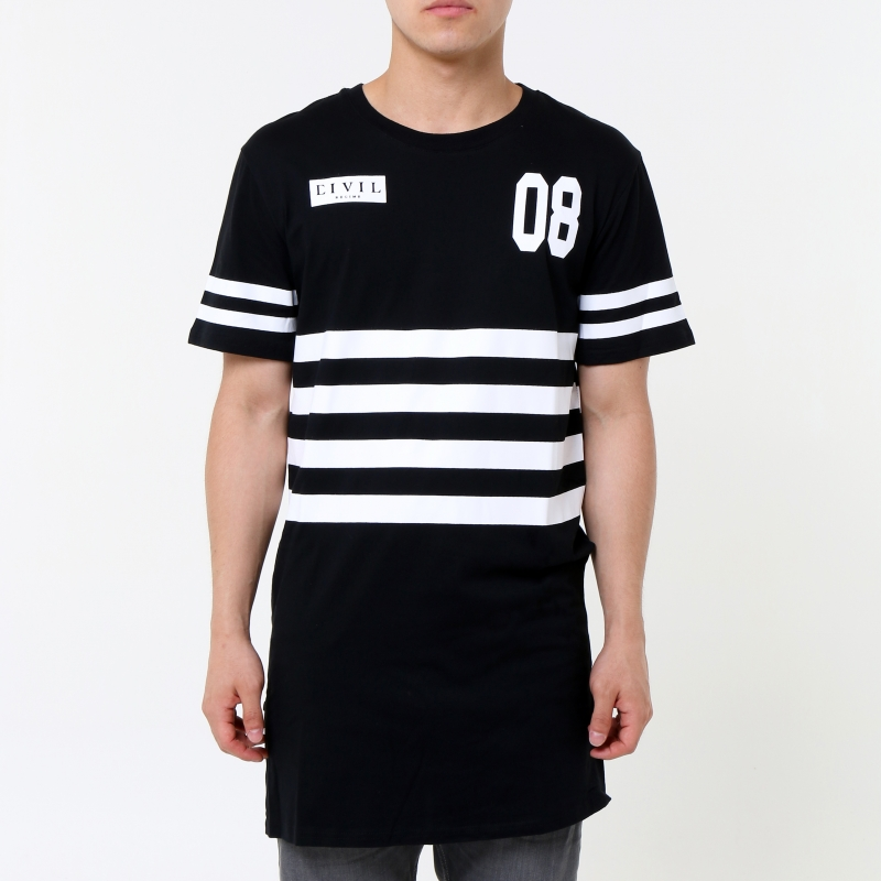 [$ SHOP SALE] [CIVIL] SURVIVE SIDE ZIP LONG TEE (Black)