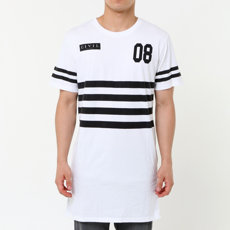 [$ SHOP SALE] [CIVIL] SURVIVE SIDE ZIP LONG TEE (White)