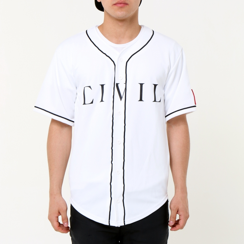 [$ SHOP SALE] [CIVIL] HOME TEAM REBEL FLAG BASEBALL JERSEY (White)
