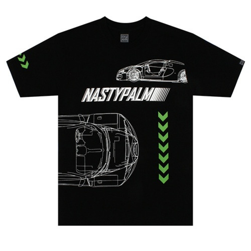 [NASTY PALM] MACH 7 TEE (BLK)