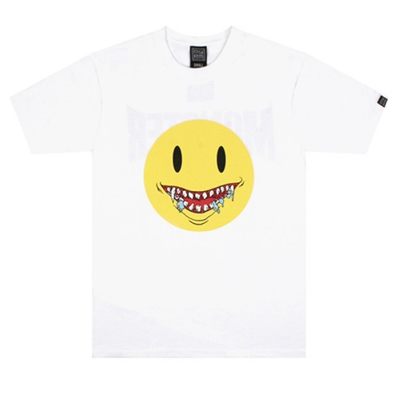 [NASTY PALM] DEAD SMILE TEE (WHT)