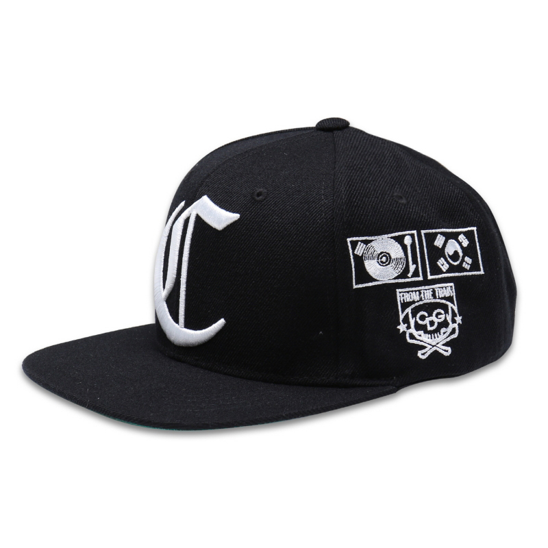 [$ SHOP SALE] [COUPDEGRACE] CDG TEAM SNAPBACK (BLACK/WHITE)
