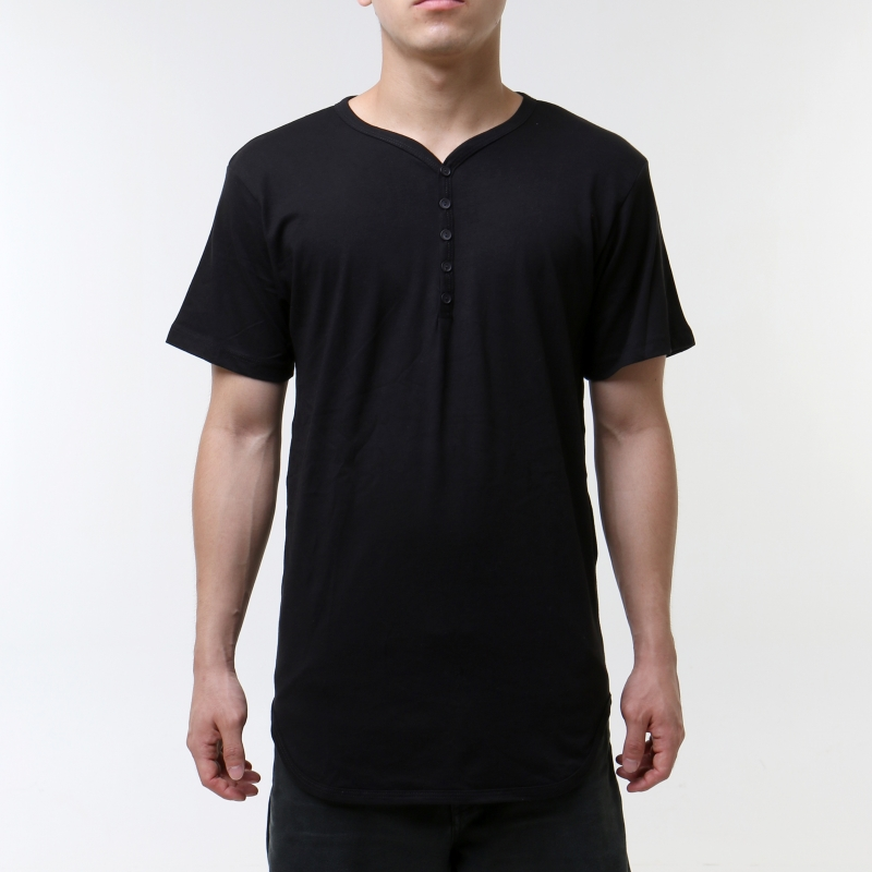 [$ SHOP SALE] [EPTM] HENLEY-BLACK