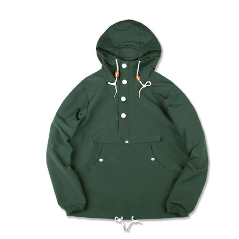 [MARCH WITH] PULLOVER ANORAK JACKET (GREEN)