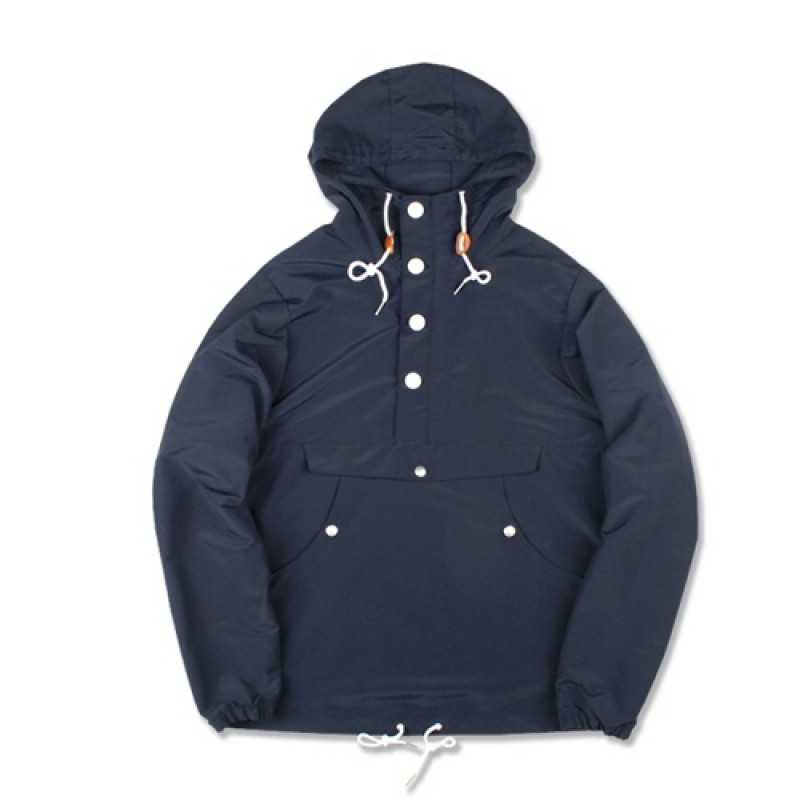 [MARCH WITH] PULLOVER ANORAK JACKET (NAVY)