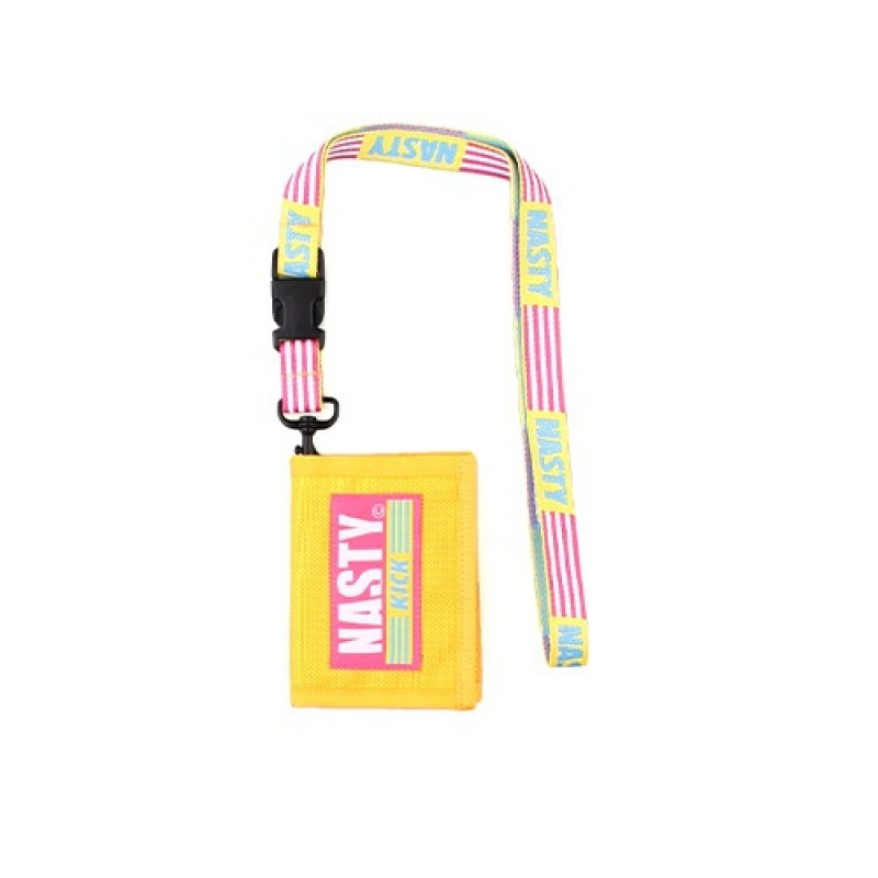 [NASTY PALM] NASTY KICK NECKLACE WALLET (YELLOW)