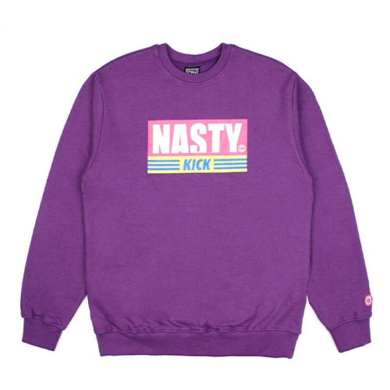 [NASTY PALM] NASTY KICK SWEATSHIRTS (PURPLE)
