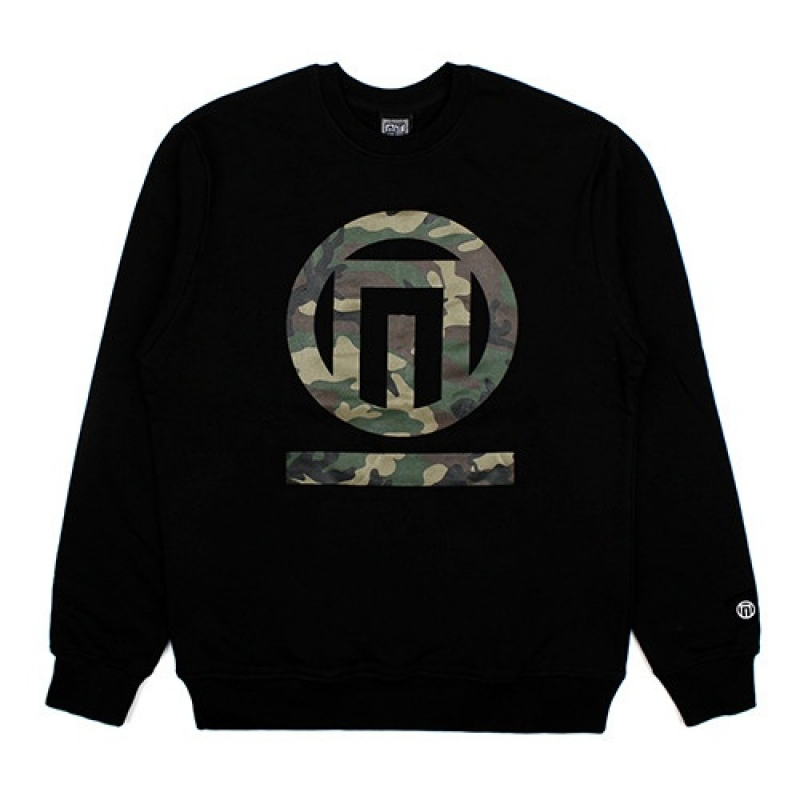[NASTY PALM] CAMO N-FIGURE SWEATSHIRTS (BLK)
