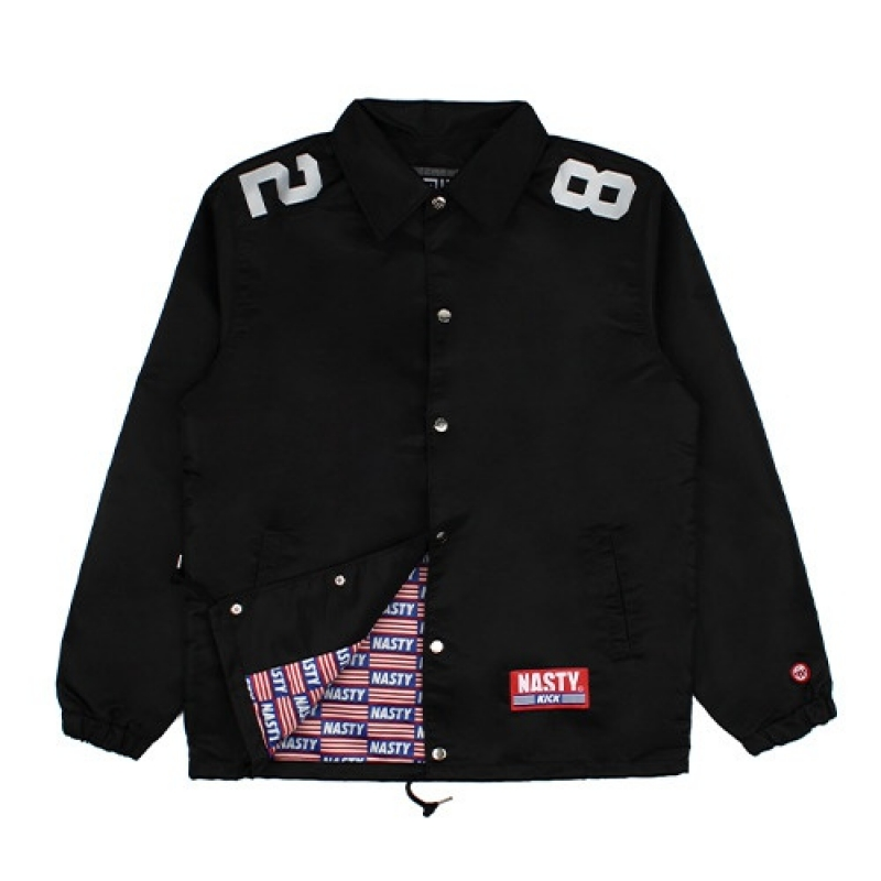 [NASTY PALM] NXM 82 COACH JACKET (BLK)