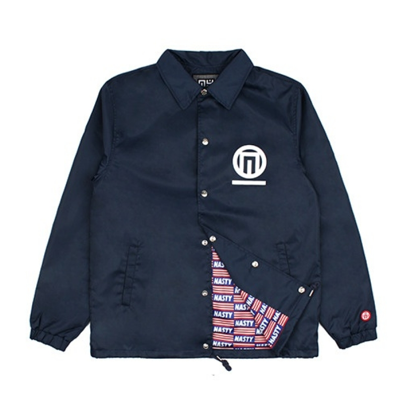 [NASTY PALM] N-FIGURE COACH JACKET (NAVY)