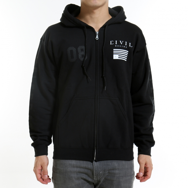 [$ SHOP SALE] [CIVIL] REGIME ZIP UP HOODIE (Black)